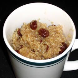 Quinoa Pudding Recipe-Love this!  I make a batch (adding brown sugar and sometimes almond flavoring), divide it into single servings, and take it to work for a quick, healthy breakfast!
