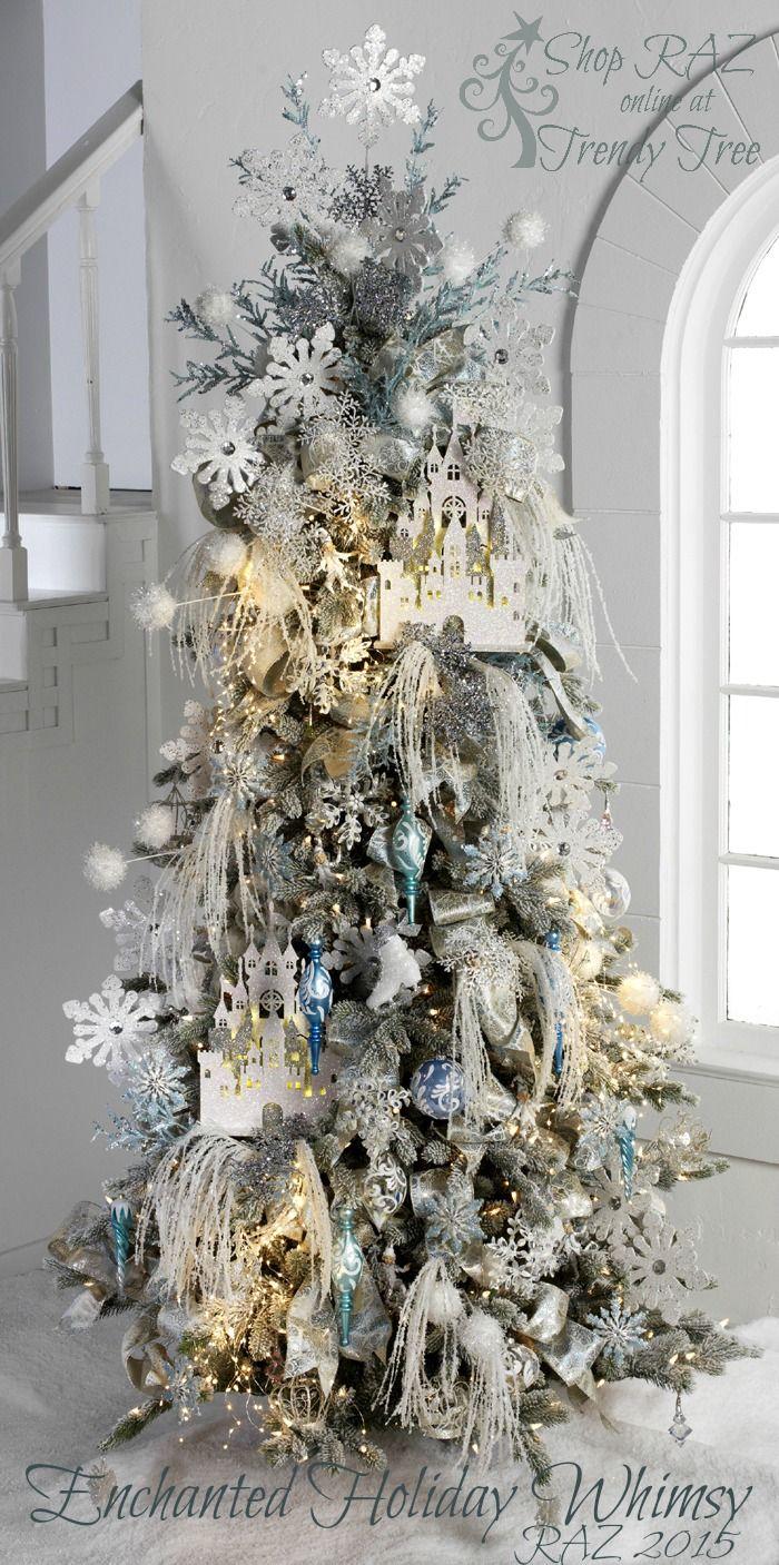 51 exquisite totally white vintage christmas ideas digsdigs - 2015 Raz Christmas Trees