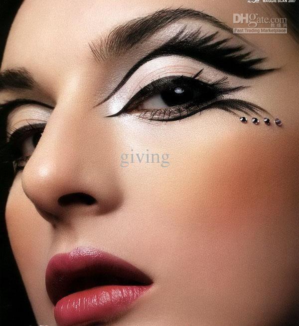 crazy eyeshadow designs | EMS 46 boxes MAX DONA crazy design eyeshadow sticker instant eyeshadow ...