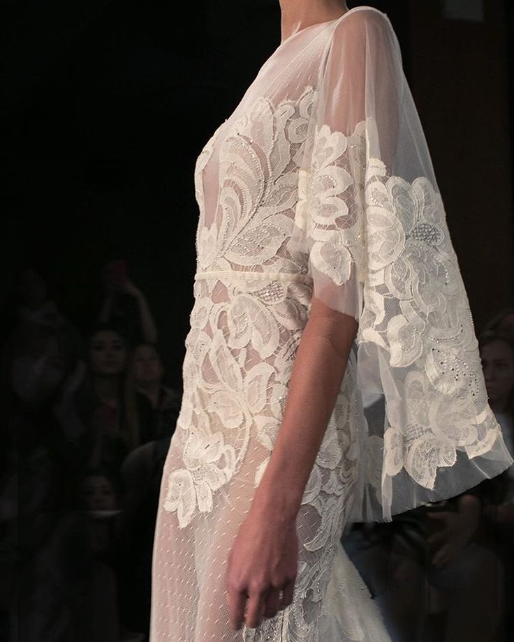 dreamy embroidery and ethereal silhouette