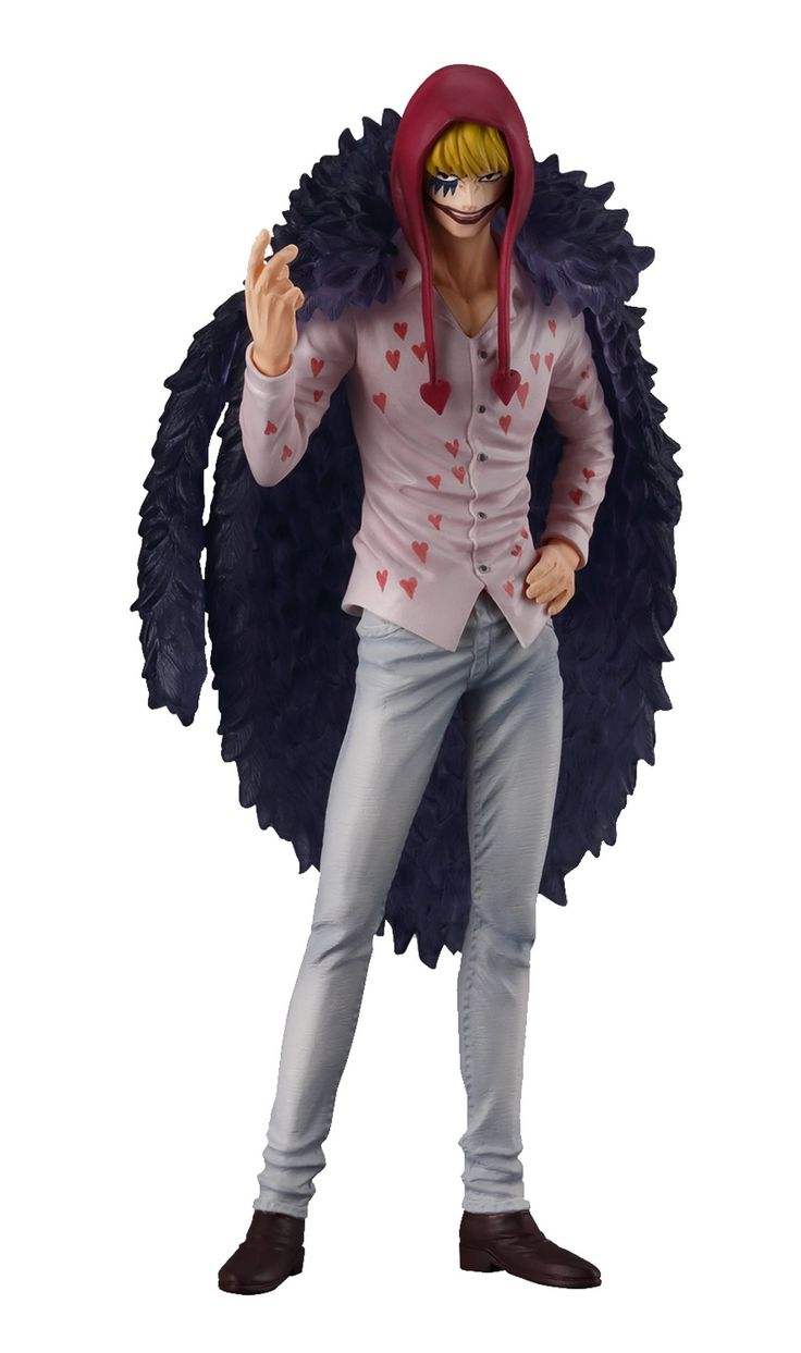Shokugan One Piece 5.1-Inch Corazon Figure, Super One Piece Styling, Trigger of the Day