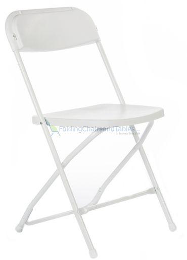 White Plastic Folding Chair Premium Rental Style