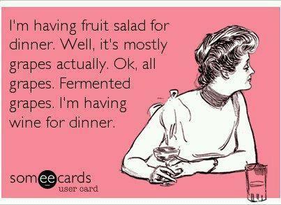 Hahaha Hey, wine does improve heart health!