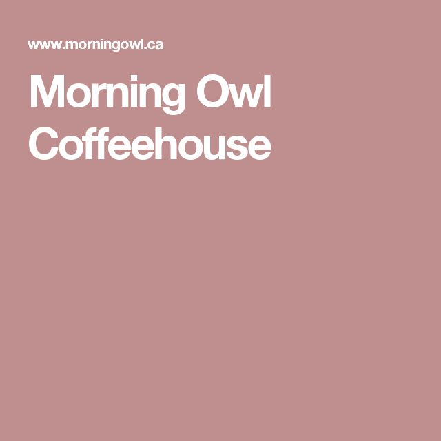 OTTAWA - Morning Owl Coffeehouse