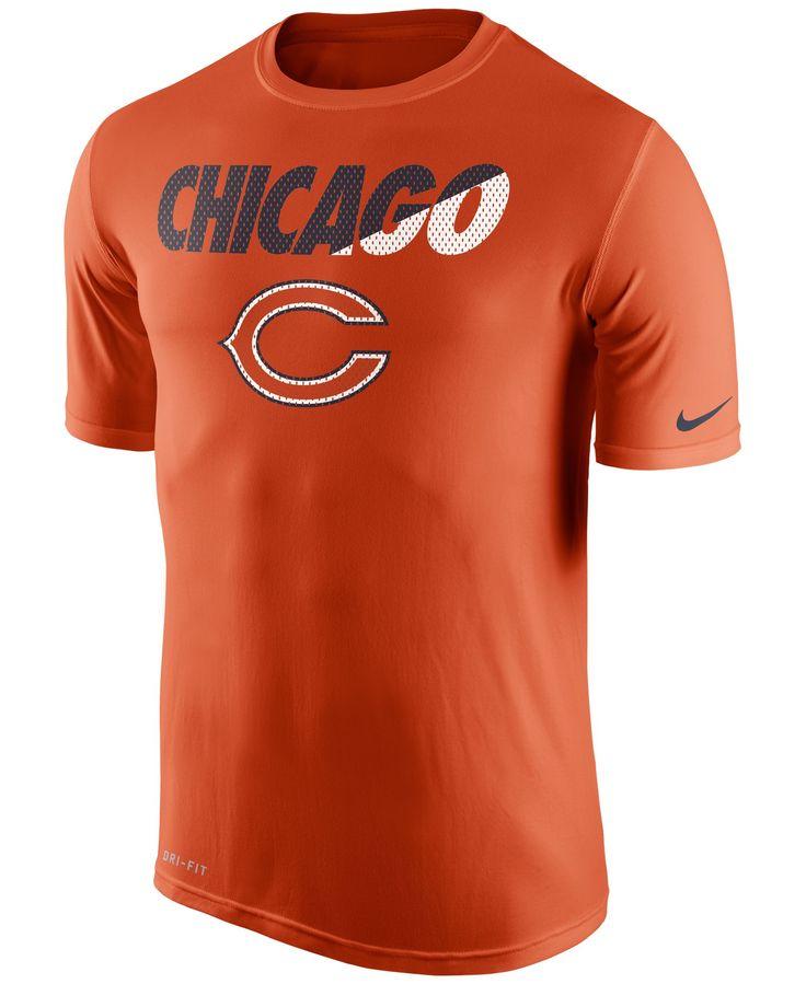 Chicago Bears Nike Legend Staff Practice Performance T-Shirt - Orange