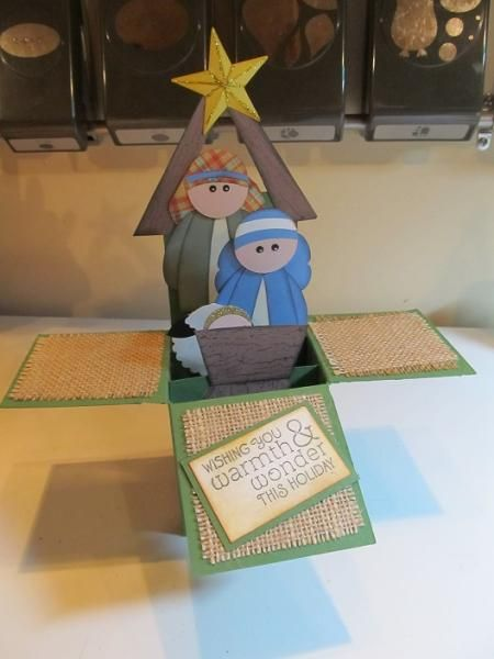 WOW!!! Card in a box. Links in blog to converted directions and a tutorial. Some beautiful stunning examples