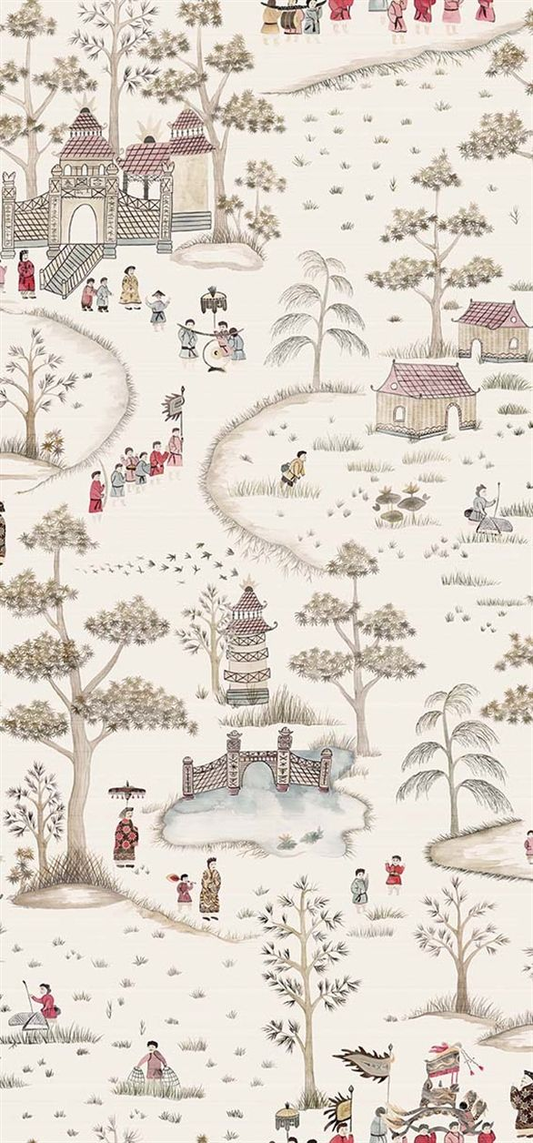 Cathay Parade, Nina Campbell for Osborne & Little: NCW4180-02. Traditional Chinoiserie