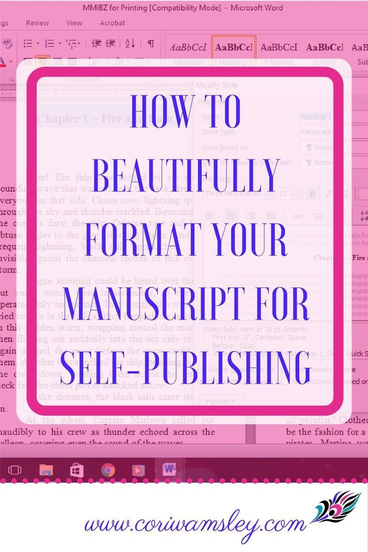 How to Beautifully Format Your Manuscript for Self-Publishing Formatting a manuscript for publication