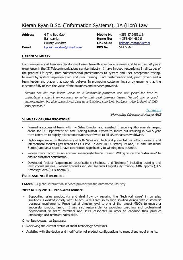 technical sales sales engineer resume sample  best resume
