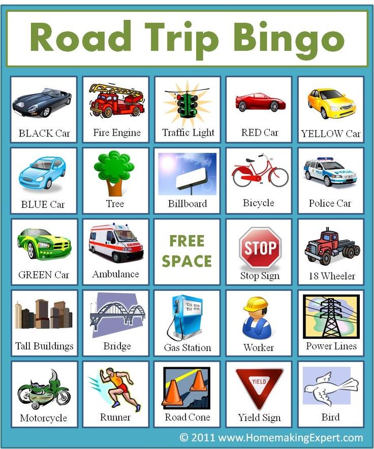 1000+ Ideas About Road Trip Bingo On Pinterest