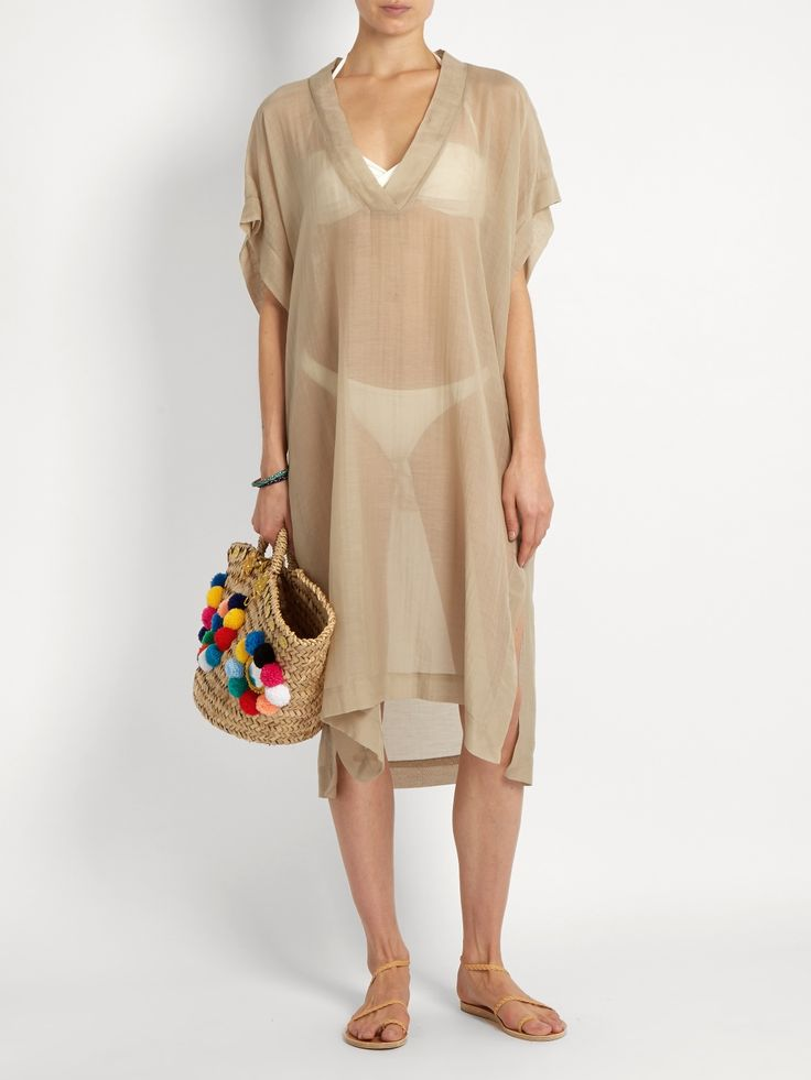 Click here to buy Lila Eugenie 1717 embroiderd voile kaftan at MATCHESFASHION.COM