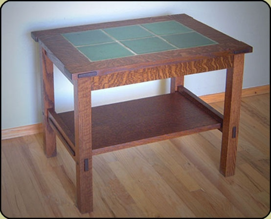 Beautiful Handcrafted Rookwood Tile Top Tables Handmade In The U.