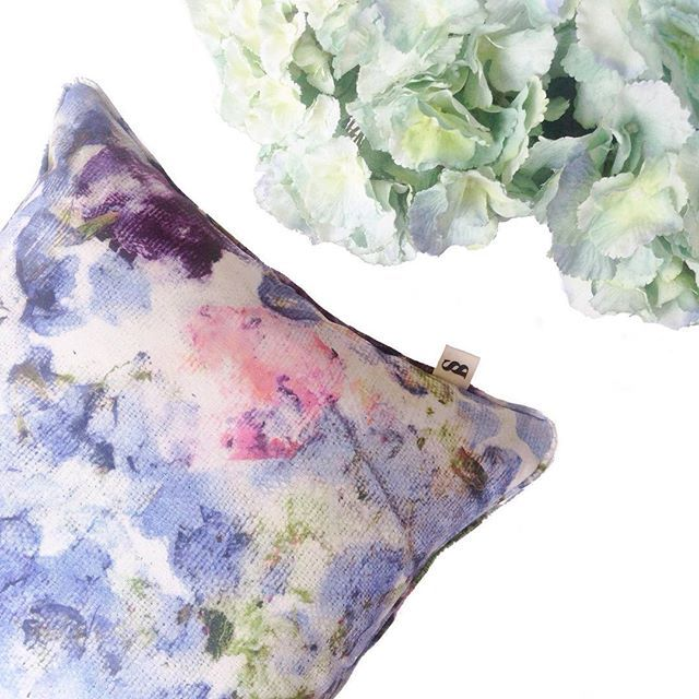 Pastel florals to brighten the home featuring the Vivid Violets cushion Available now at sarahblythe.com/shop