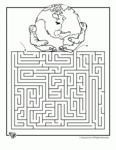 earth day free printable worksheets including mazes and coloring pages for elementary school students - Elementary Coloring Pages