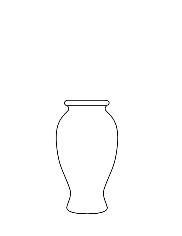 vases with flowers coloring pages - photo#45