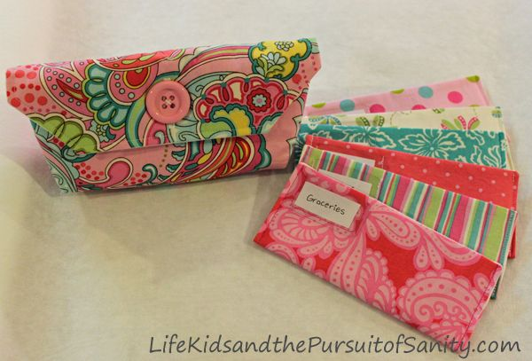 Fabric Cash System Envelopes Clutch Tutorial Instructions