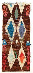 Marokkaanse Berber tapijt Boucherouite 255 x 100 cm