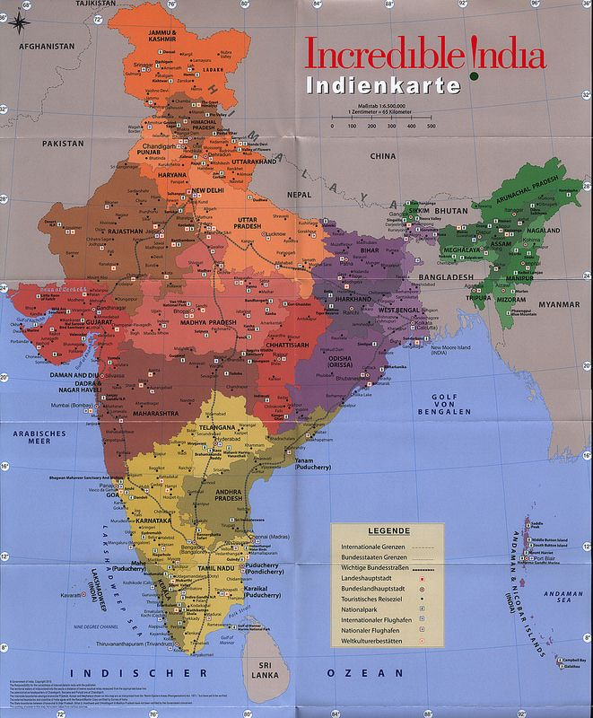 Incredible India; Indien; 2015_2 map | tourism travel brochure | by worldtravellib World Travel library