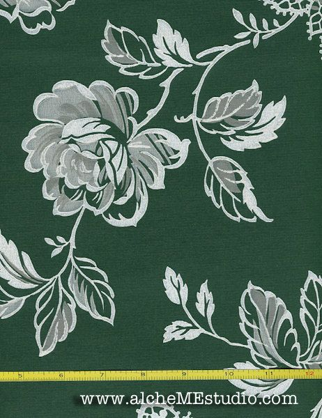Vintage Wallpaper Greenings By the Yard by alcheMEstudio on Etsy