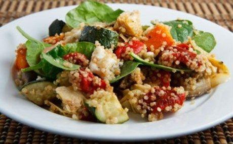 Ψητα λαχανικά με κους κους(2 μονάδες) | Diaitamonadwn.gr