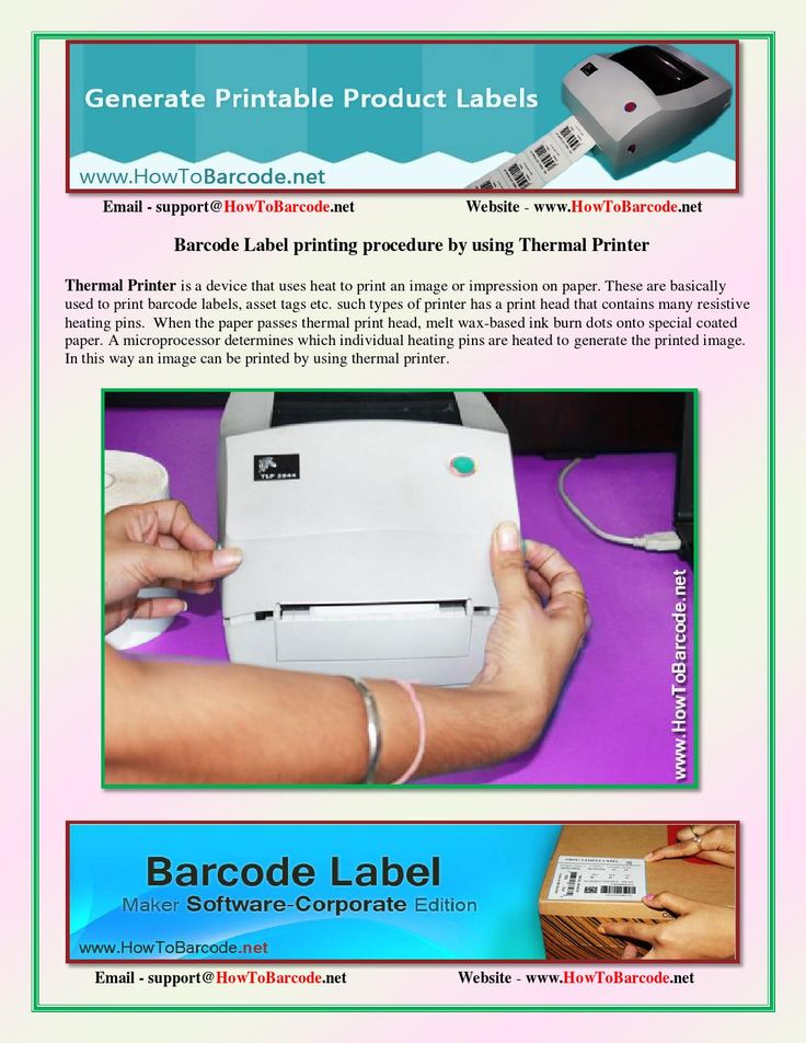 Barcode label printing procedure by using thermal printer - HowToBarcode.Net  In this document we will come to know how to print barcode labels by using thermal printer. Here we have followed few steps that will guide you. Creating  and printing of barcode labels is very easy with DRPU Barcode Label Maker Software in an automated manner