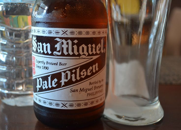 Beer bar delight. Best Beer in Asia - Beer Heaven in Philippines - San Miguel Pale Pilsen - The perfect match for Filipino food. For full blog on Beers in the Philippines check here: http://live-less-ordinary.com/asia-travel/best-beer-in-asia-philippines-san-miguel