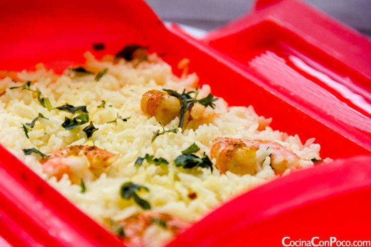 #lekue vaporera receta vapor #arroz gambas curry #microondas #cereales