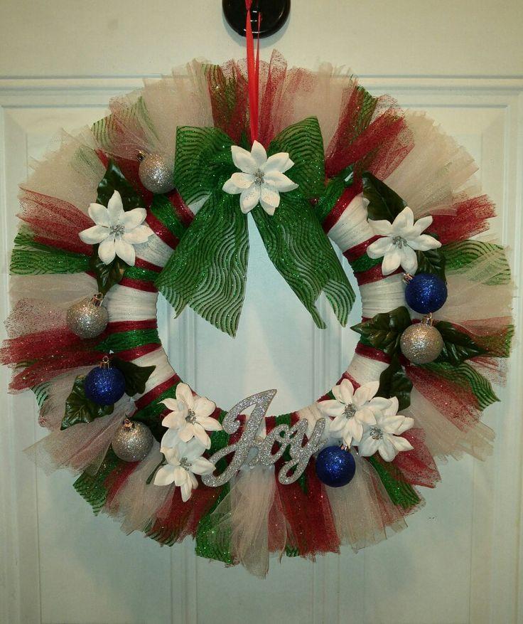 Tulle Christmas Wreath 15 best flip flop