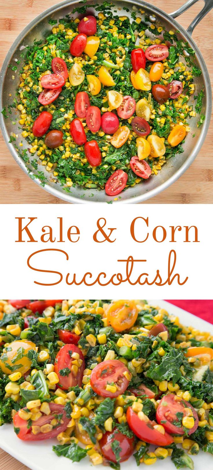 Kale and Corn Succotash recipe- a delicious vegetable side dish for your next dinner
