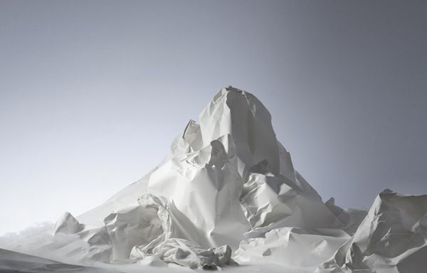 3D Paper Mountain by Benja Harney photography   from the storeroom @ POTW