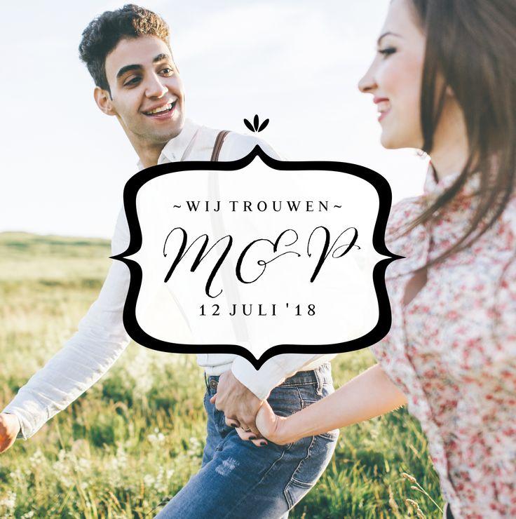 Een foto op je trouwkaart maakt het kaartje heel persoonlijk. Met deze bannier ben je verzekerd van een chique kaart!