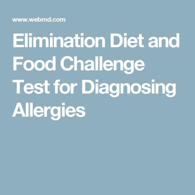 Elimination Diet and Food Challenge Test for Diagnosing Allergies