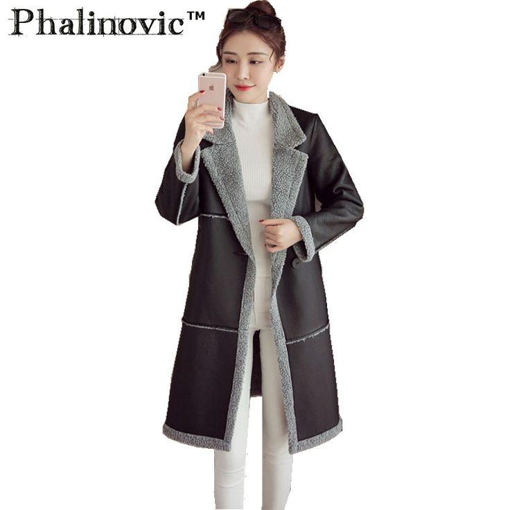 >> Click to Buy << Phalinovic 2017 Female Leather Jackets Slim Fur Women Parkas Lady Winter Autumn Faux Fur Jacket Long Turn Down Collar #Affiliate