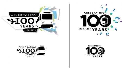 Calgary Transit 100th Anniversary Logos