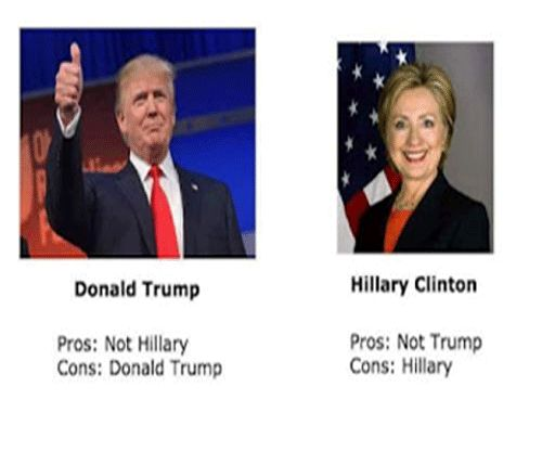 Donald Trump And Hillary Clinton Funny Meme