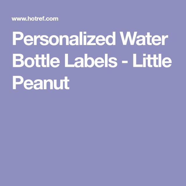 Personalized Water Bottle Labels - Little Peanut