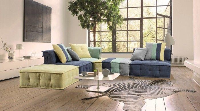 modern fabric sectional sofa