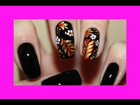 Маникюр хохлома на ногтях - YouTube