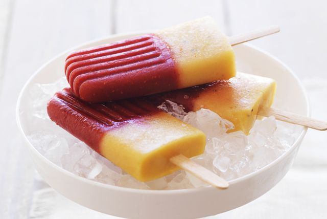 Raspberry-Mango Ice Pops