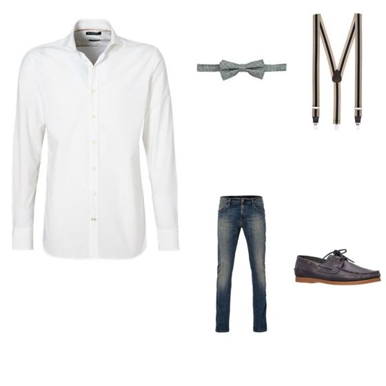 Casual Formele Look outfit - Avondkleding - Clooy.nl OUTFIT TOTAALPRIJS: € 247,83 Wie zegt dat casual niet formeel kan zijn? Met deze look ben je allebij! De blouse van H.E. by Mango en de jeans van Carhartt zorgen samen voor een casual combi. De schoenen van H.E. by Mango, het strikje van WE Fashion en de bretels van Michaelis zorgen ervoor dat het geheel een formele uitstraling krijgt.