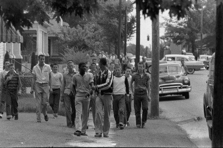 Little Rock Nine were a group of African American students enrolled in Little Rock Central High School in 1957. Their enrollment was followed by the Little Rock Crisis, in which the students were initially prevented from entering the racially segregated school by Orval Faubus, the Governor of Arkansas. They then attended after the intervention of President Eisenhower.