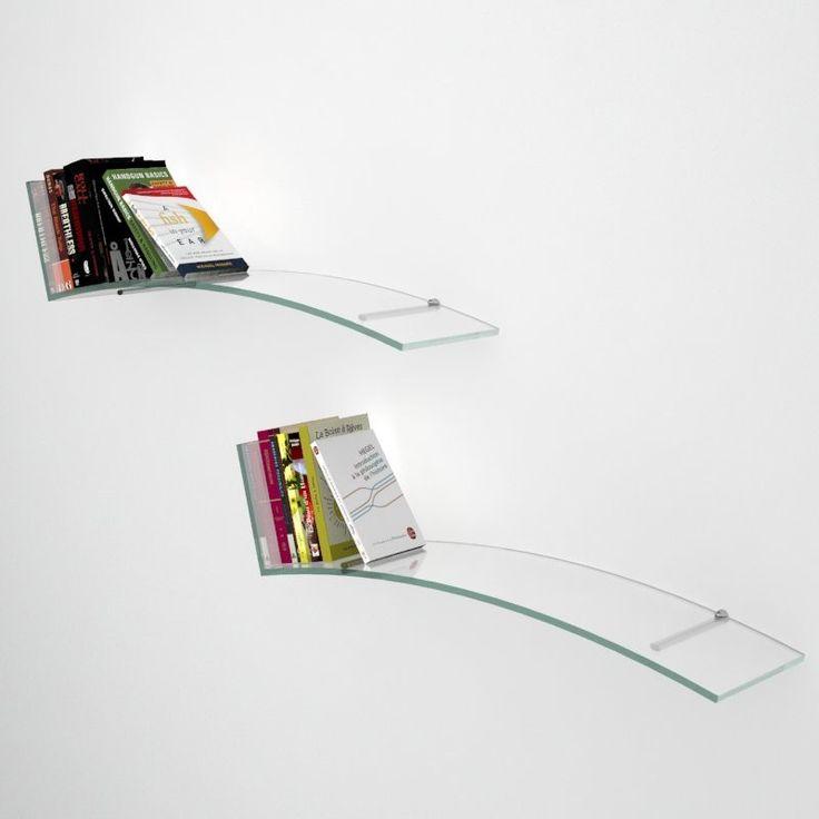 Mensole in vetro sagomato Vale Veca vende online mensole in vetro sagomato e colorato  Mensole Vale in vetro curvato e temperato di ottima fattura, disponibile nelle colorazioni trasparente, bianco e nero. Insieme alla mensola verrà fornito un kit composto da 2 supporti per vetro, da scegliere tra quelli proposti