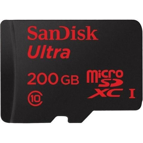 Memory Cards - SanDisk MicroSDXC Ultra 48MB/s 200GB (with SD Adapter)