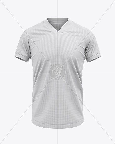 f5af691c8 Men s Soccer V-Neck Jersey Mockup - Front View  3d  apparel  clothing   football  footballjersey  garment  jersey  male  match  men  mockup  mockup   outfit ...