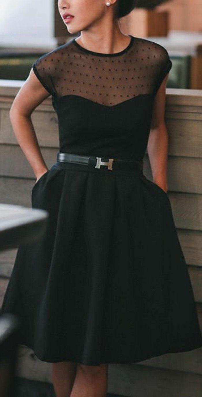 Prachtvolles Schwarzes Kleid Mit Innentaschen Festliche Kleidung Damen Festliche Damenmode Damenmode Kleider