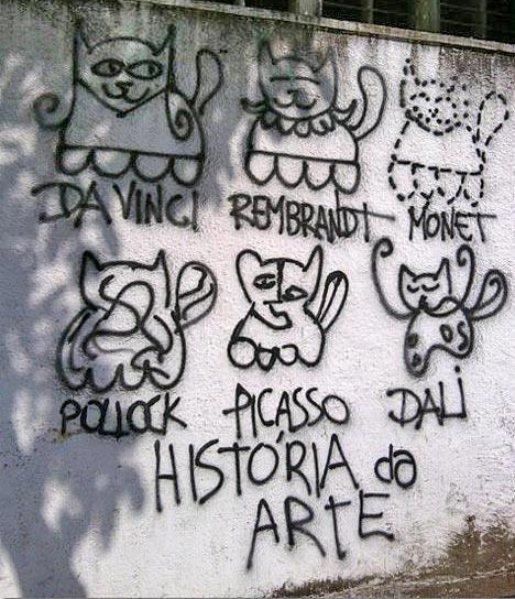 DesEquiLIBROS. Lectura y cultura: La historia del arte en un graffiti