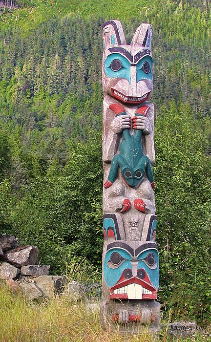 Ketchikan Alaska Totem Pole Photograph by Bellesouth Studio - Ketchikan Alaska Totem Pole Fine Art Prints and Posters for Sale
