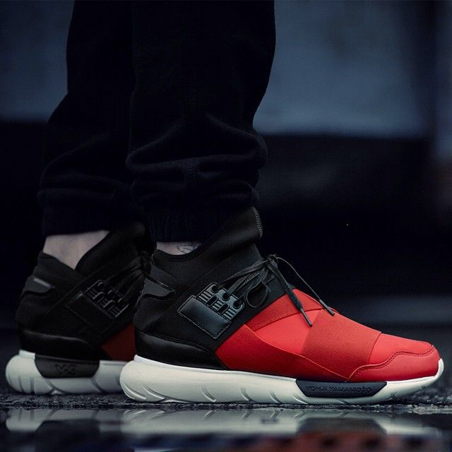 dcac113345d7 ADIDAS Y-3 QASA HIGH  ROYAL RED BLACK  via More SneakersMore sneakers here.