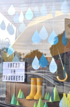 Spring Window Display Ideas | Visual Merchandising for spring showers
