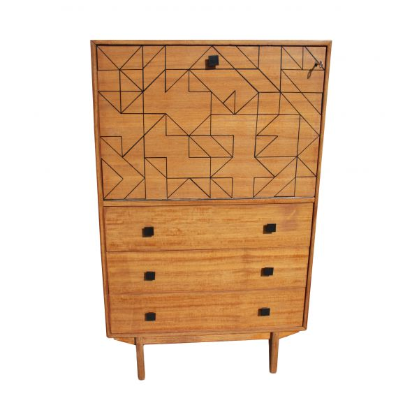 Graphica cabinet by Alice CHARPENTIER (Wings for Trees) for Les Expressives // #vintage #remastered #midcentury | *Home Furnishings* | Pinterest | Secretary, F…